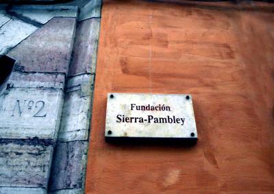Entrada de la Fundación Sierra Pambley (León)